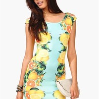 Meyer Fruit Dress - Yellow