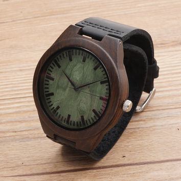 BOBOBIRD Top Quality Retro Bamboo Wooden Watches Luxulry Brand Designer Watch Leather Band Quartz Watches for Men