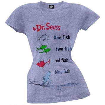 PEAPGQ9 Dr. Seuss - One Fish Two Fish Juniors T-Shirt