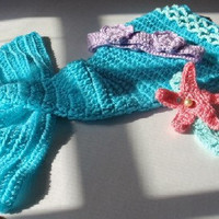 Mermaid photo prop / newborn 3 months by GrammasGifts on Etsy