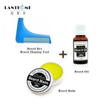 Lanthome: Beard Care Trimmer Comb for Shaping, Beard Oil and Balm