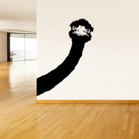 Wall Vinyl Sticker Decals Decor Art Bedroom Design Mural Ostrich Animal Camel-bird Head (z515)