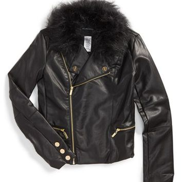 Girl's Marciano Faux Leather Jacket,