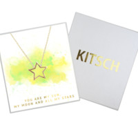 Open Shape Star Necklace | 2 Color Choices