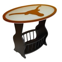 Texas Longhorns End Table (Black)