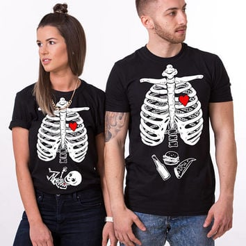 Halloween maternity shirt, maternity shirt, matching Halloween shirts, skeleton baby shirt, Halloween shirt, Baby boy, UNISEX