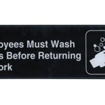 Employees Must Wash Hands Sign (S39-25BK)