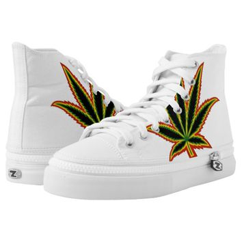Rasta Pot Leaf Shoes Printed Shoes
