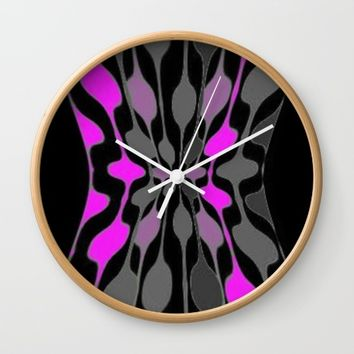 WOODS Wall Clock by violajohnsonriley