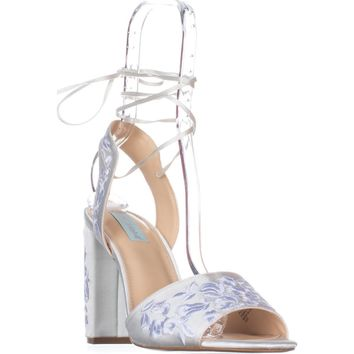 Blue by Betsey Johnson Raine Dress Sandals, Ivory, 9 US