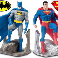 DC Batman and Superman Bookends