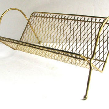 Mid Century Modern Wire Letter CD Holder Office Desk Accessory Organizer