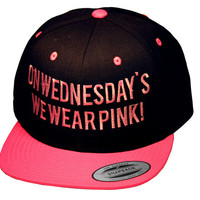 On Wednesday's we Wear Pink Snapback | fresh-tops.com