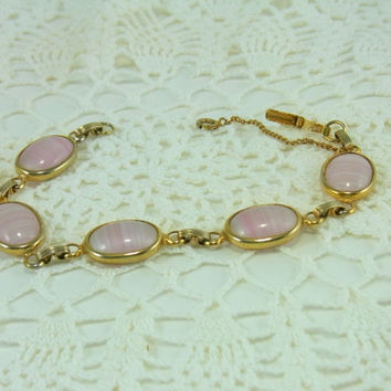 Sarah Coventry Pink Shadows Bracelet Vintage Sarah Coventry Jewelry