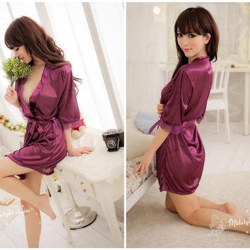 Womens Cute Lovely Robe Lingerie