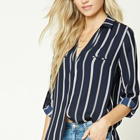 Pinstripe Collared Shirt
