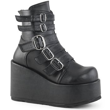 Demonia - CONCORD-57 - Black Vegan Leather - Women's Ankle Boots