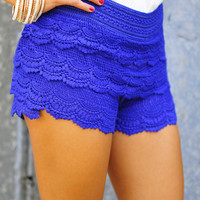 It's So Lacy Shorts: Royal Blue | Hope's