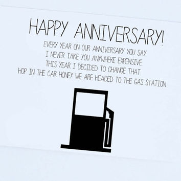 Funny Anniversary Card, Happy Anniversary From Him, Silly, Funny Card