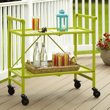 Cosco Indoor/Outdoor Slatted Folding Serving Cart