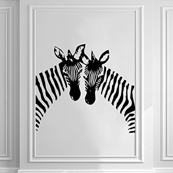Zebra Wall Decals Animals Jungle Safari African Vinyl Decal Sticker Home Interior Design Art Mural Kids Nursery Baby Room Bedding Decor C167