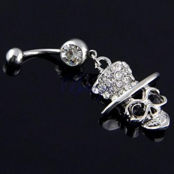New Charming Dangle Crystal Navel Belly Ring Bling Barbell Button Ring Piercing Body Jewelry = 4804871748