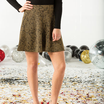 Metallic skater skirt-more colors
