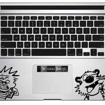 Calvin and Hobbes Trackpad Decal - Mac Decal - Laptop Sticker - Comic Decal - Wrist Rest Decal