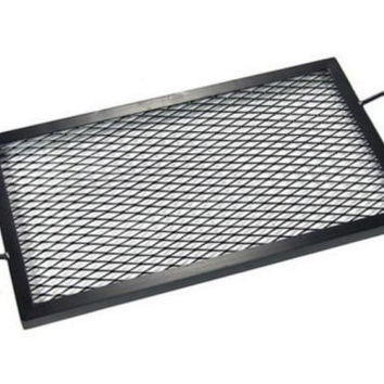 Heavy Duty 30 Inch Black Steel Rectangle Fire Pit Cooking Grill Grate Firepit