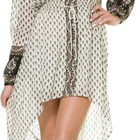 BILLABONG PRETTY AMAZING LONG SLEEVE MAXI DRESS