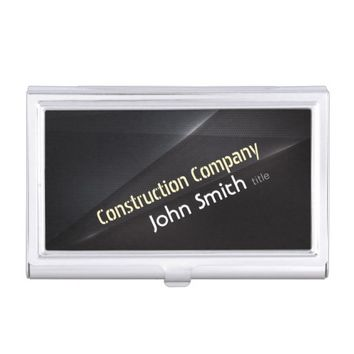 Professional Construction Modern Black Metal Business Card Holder