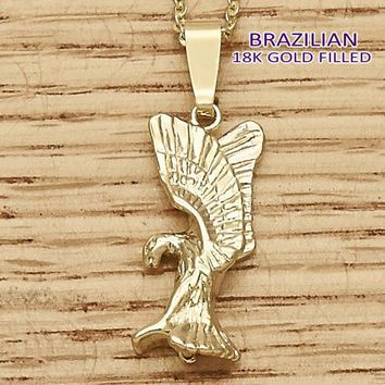 Gold Layered Men and Women Eagle Fancy Pendant, by Folks Jewelry