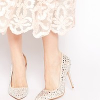 Carvela Glow Nude Embellished Heeled Court Shoes