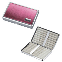 Visol Malena Hot Pink Leatherette Double Sided Cigarette Case