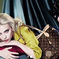 **PRINT AD** With Scarlett Johansson In Yellow Top For LV Monogram Bags **PRINT AD**