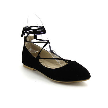 ATREVIDA ZOnIA-17 Women's Lace Up Ballet Flats | Overstock.com Shopping - The Best Deals on Flats