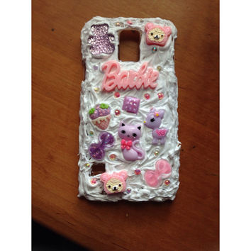 Kawaii Samsung Galaxy S5 Phone Case with Squishy Waterproof Decoden Cream! Plastic Case!