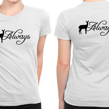 Harry Potter Inspired Always B 2 Sided Womens T Shirt