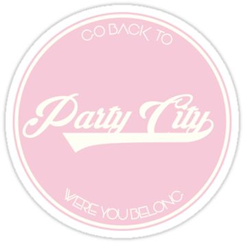 'PARTY CITY' Sticker by fromtheblock