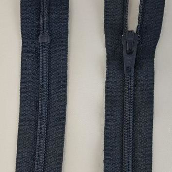 (Navy) Dress Zipper, 9""