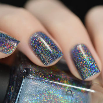 Maiden Lane - Charcoal Grey Ultra Holographic Nail Polish