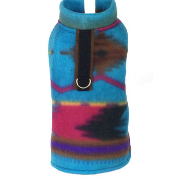 Tribal Fleece Dog Coat