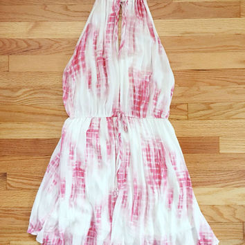 Pink Tie Dye Summer Dress