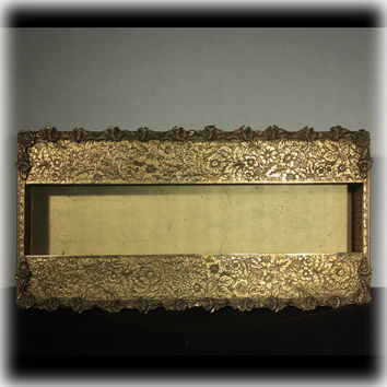 Tissue Box, Kleenex Box Cover, Brass Tissue Cover, Gold Tissue Box, Dressing Table, Brass Tissue Box