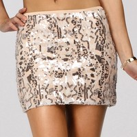 Sale-pink Sparkling Polished Mini Skirt