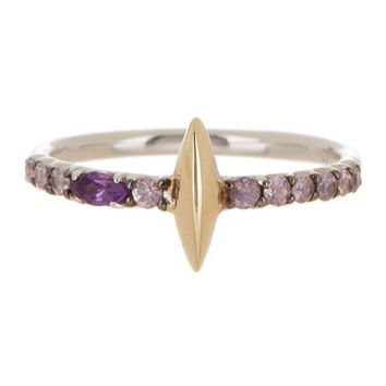 Alexis Bittar 14K Gold & Sterling Silver Marquis Ring