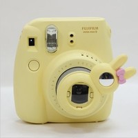[Fujifilm Instax Mini 7s Mini 8 Selfie Lens] -- CAIUL Rabbit Style Instax Close Up Lens with Self-portrait Mirror For Fujifilm Instax Mini 8 mini 7s Camera and Polaroid 300 (Yellow)