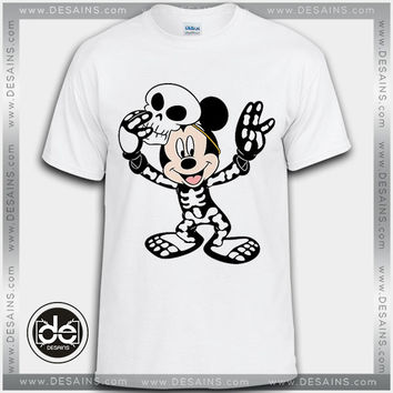Best Tee Shirt Mickey Mouse Halloween Skull Tshirt Kids and Adult