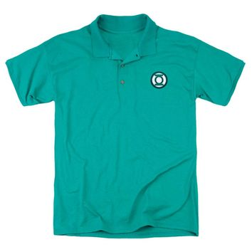 Justice League Of America Men's  Embroidered Lantern Polo Shirt Green