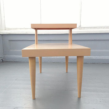 Vintage, Mersman, Step Up, Blonde, End Table, Mid Century,   Living room, Furniture, RhymeswithDaughter